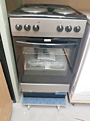 CURRYS CFSESV17 50cm SILVER / BLACK ELECTRIC SOLID PLATE COOKER,  BRAND NEW