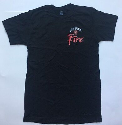 Jim Beam Kentucky Fire Black Short Sleeve T-Shirt Size S