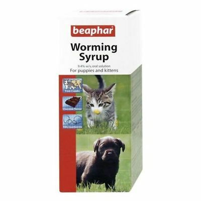 4x Beaphar Worming Syrup For Puppies & Kittens 45ml