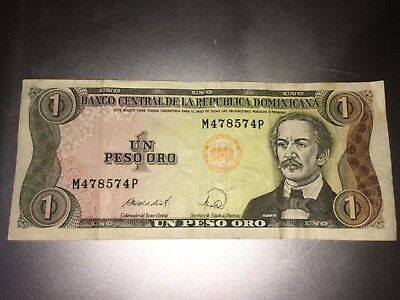 1988 Dominican Republic 1 UN Peso Oro Note