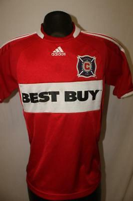 a7a50f086c8d3 ADIDAS Chicago Fire Youth Medium mls soccer jersey football CLIMACOOL best  buy