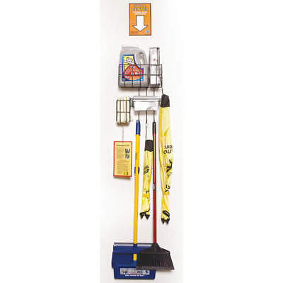 NOVUS PRODUCTS AB-SCDX Spill Kit/Station, Wall Mounted Rack, Chemical, Hazmat