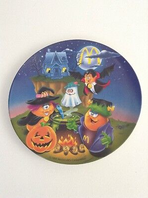 "McDonald's Collectible Plate Plastic 9"" Halloween McNugget Buddies 1995 Monsters"