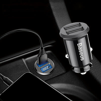 Grain Mini Dual USB Smart Car Charger 3.1A For Mobile Phone Tablet GPS Durable