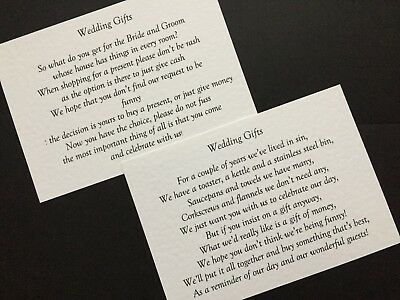 Superb New Wedding Poem Cards Money Cash Gift Ask For Money