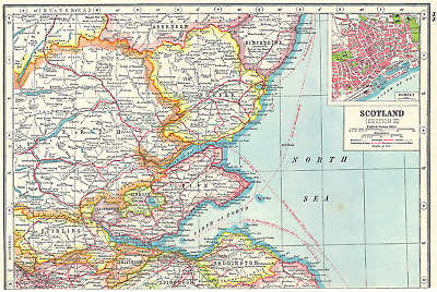 Firths of Forth & Tay. Fife Forfar Perthshire. Inset Dundee. Scotland 1920 map