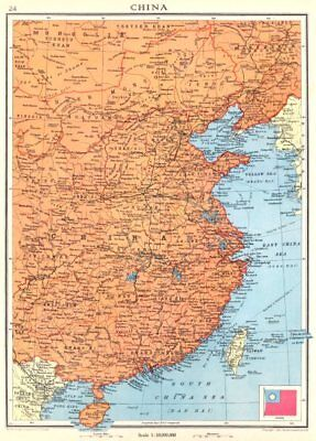 CHINA. Kwang-chow Taiwan Hong Kong 1938 old vintage map plan chart
