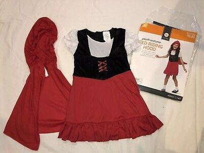 Girls LITTLE RED RIDING HOOD costume SMALL 4-6 Complete