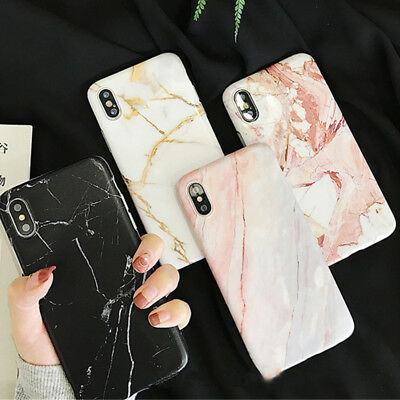 Slim Marble Pattern Back Soft Rubber Case Cover For Apple iPhone XS MAX XR X 8 7