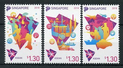 Singapore 2018 MNH ASEAN Chairmanship 3v Set Politics Politicians Stamps