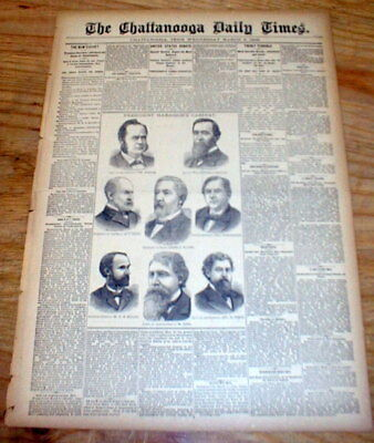 1889 newspaper w description of early MARDI GRAS PARADE in New Orleans LOUISIANA