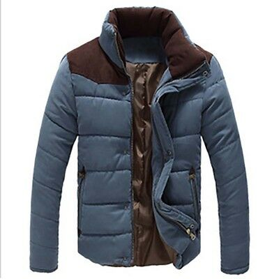 Men's Padded Cotton Jacket Warm Coat Casual Ski Outwear Overcoat Comfy Winter