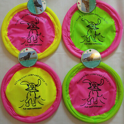 """Soft Flying Disc Frisbee Dog Toy 10"""" Play Fetch Exercise Floppy Saucer Pet Flyer"""