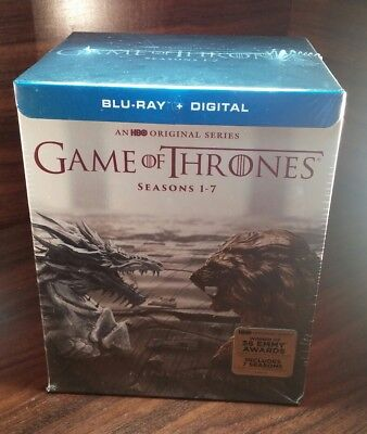 Game of Thrones:The Complete Seasons 1-7(Blu-ray Disc,2017)No UV-Discs Unused