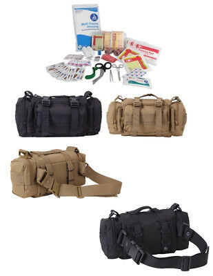 Black Coyote Brown Trauma First Aid Kit Emergency Military Stocked Medical Bag