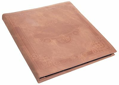 Red Co. Brown Faux Leather Family Photo Album Holds 500 4x6 Photographs