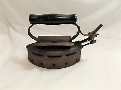 """Antique Vintage Natural Gas Sad Iron, """"Imperial"""" by General Specialty Co. NY"""