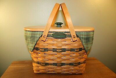 Signed LONGABERGER 1997 TRADITIONS COLLECTION FELLOWSHIP BASKET COMPLETE COMBO