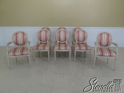 L29894EC: Set Of 8 French Louis XVI Style Dining Room Chairs