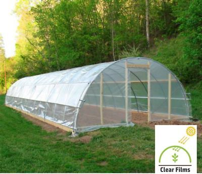 Greenhouse Plastic Cover Clear 6mil 4yr Poly Film 8-30 Widths x Various Lengths