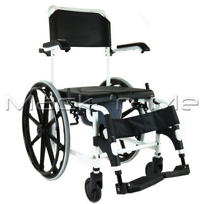 Affinity   Self-propelled Shower Chair / Commode Aluminium Fold-up Footrest