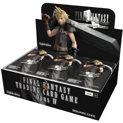 Final Fantasy TCG Opus 4 IV Booster Box Sealed 36 Pack Free Starter Deck/sleeves