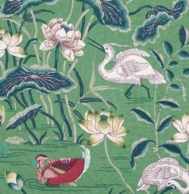 Schumacher Lotus Garden Fabric Jade