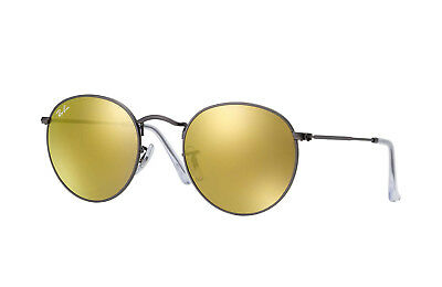 4269e62ef0d03e NEUF RAY-BAN ROND Pliage RB3517 001 93 or   Blanc avec   or Jaune ...