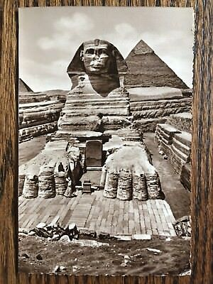 Vintage The Sphinx Cairo Egypt Photograph Postcard - Posted 1956