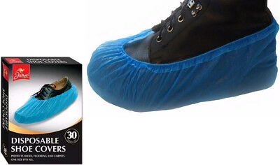 30XDisposable Overshoes Shoe Covers Protectors Carpet Flooring One Size Fits All