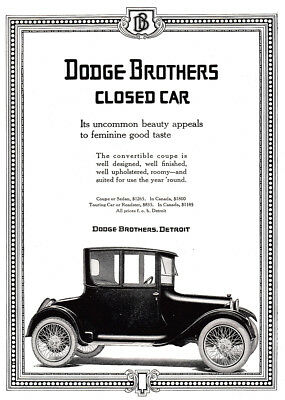 1917 Dodge Brothers: Closed Car Vintage Print Ad