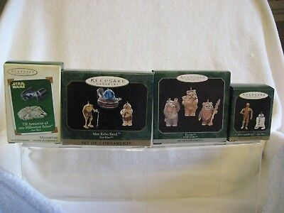 Hallmark Keepsake Ornaments Star Wars Minature ..4 pc set
