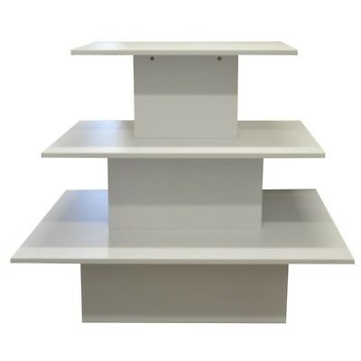 3 Tier Merchandising Display Table 1200x850x1050mm White