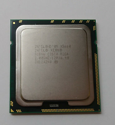 Intel Xeon X5660 2.80GHz Six Core 12MB CPU LGA1366 Processor SLBV6 Tested Grad A