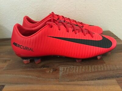 sports shoes f7495 e7fe0 Nike Mercurial Veloce III FG Soccer Cleats Red Black 847756-616 Men Sz 8.5