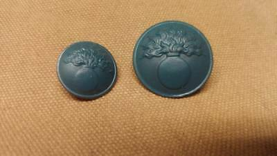 WWI French Button set, Painted 10 Large and 9 Small