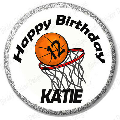 108 Happy Birthday Basketball Sports Hershey Kiss Stickers Labels Party Favors