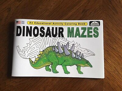 Dinosaur Mazes - Educational Read Color Book For Kids!
