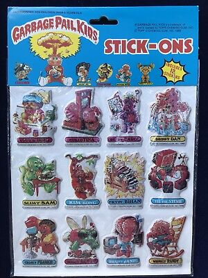 GARBAGE PAIL KIDS (GPK) Stick-Ons #7266 Factory Sealed 1986 12 Stickers