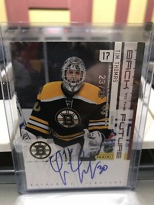 10/11 Panini Limited Tim Thomas Gerry Cheevers Back To The Future Dual Auto /25!