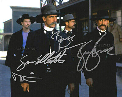 """TOMBSTONE Kurt Russell Reprint  8/"""" x 10/""""  AUTOGRAPHED Color TOMB-K04"""