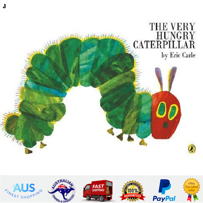 The Very Hungry Caterpillar By Eric Carle Paperback Childrens Kids Story Book