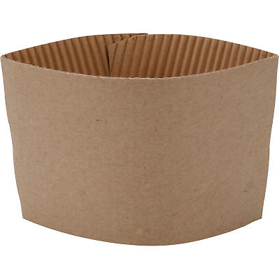 200 ct. 10 - 20 Oz. Eco Disposable Brown Coffee Cup Sleeves / Jacket / Clutch