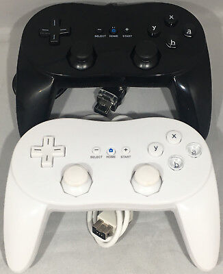 BLACK OR WHITE CLASSIC PRO CONTROLLER WIRED GAMEPAD FOR NINTENDO Wii CONSOLE