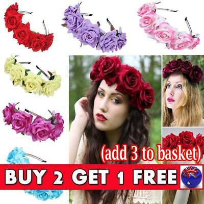 Flower Wedding Hair Headband Garland Girl Crown Floral Wreath Hairband Beach New
