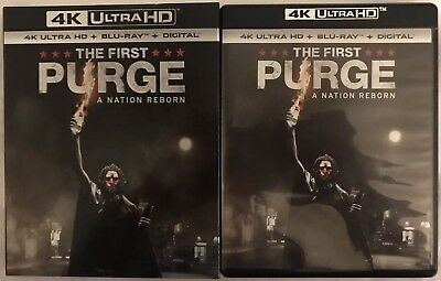 The First Purge A Nation Reborn 4K Ultra Hd + Blu Ray With Slipcover Free Shipp
