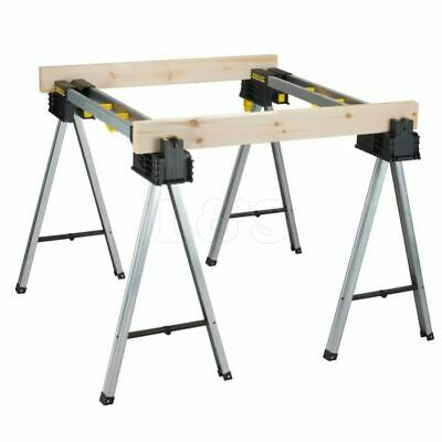 Stanley FatMax Full Metal Sawhorse Trestle Twin Pack, 900Kg - STS175763