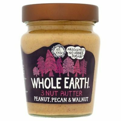 6x Whole Earth Pecans, Peanuts & Walnuts Nut Butter 227g