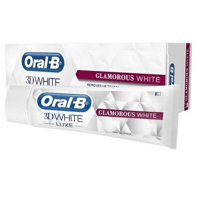 6x Oral B 3D White Luxe Glamorous White Toothpaste 75ml