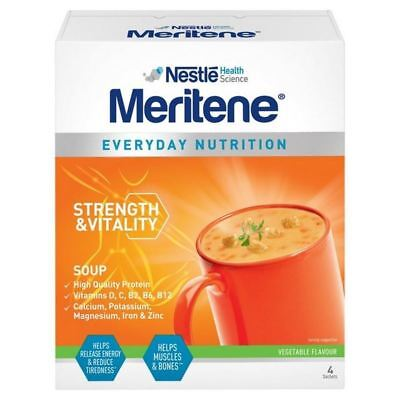 6x Meritene Vegetable Soup 4 x 50g